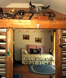 Master bedroom of O'Hair cabin